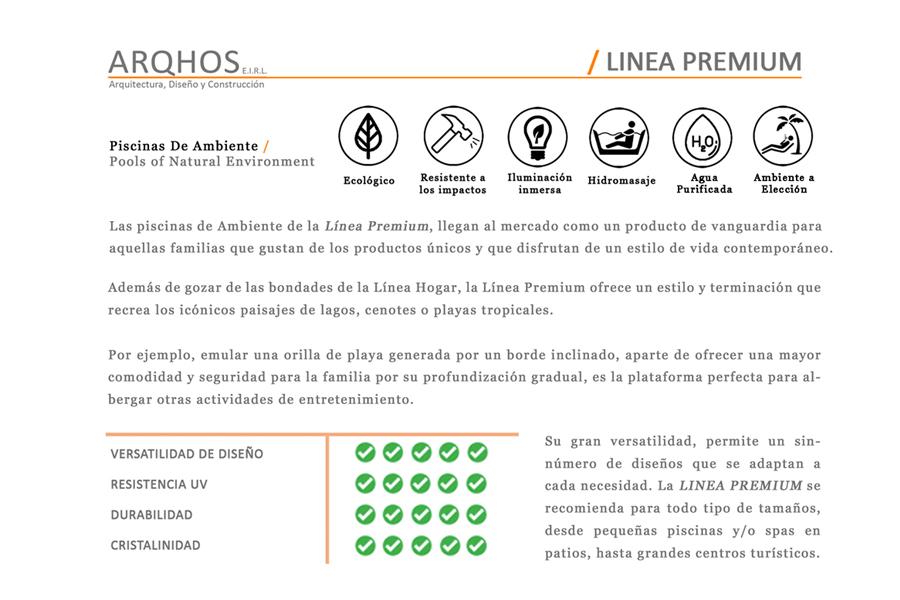 Linea Premium ARQHOS, Piscinas Naturales